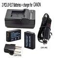 For Canon LP E17 LPE17 battery charger set Car line for Canon EOS 760D/Kiss 8000D/Rebel T6s 750D/Kiss X8i/Rebel T6i/ M3 LP-E17