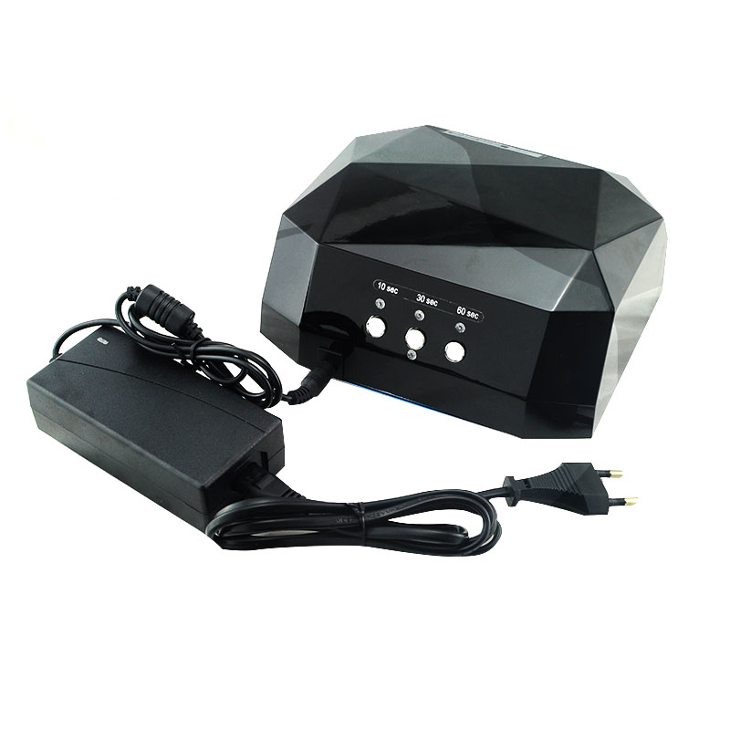 Best Quality 36W LED CCFL Nail Dryer Diamond Shaped Curing Lamp Machine UV Gel Nail Polish chauvet dj ez rail rgba black