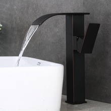 Бесплатная доставка черный античная латунь водопад на бортике бассейна кран горячей и холодной воды ванной кран LT-513