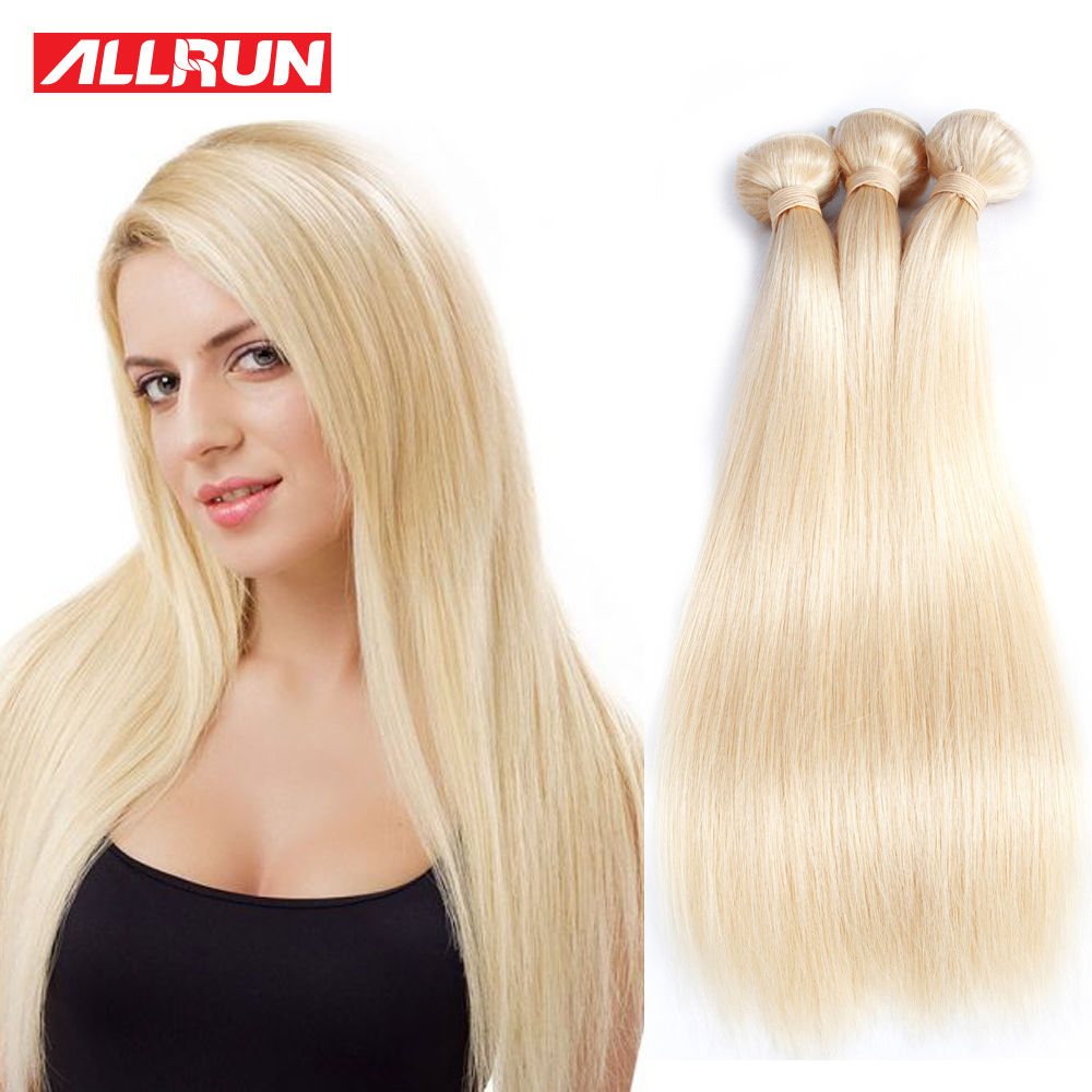 10 Bundles Eurasian Straight Hair 613 Blonde Virgin Hair Allrun