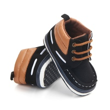 Autumn Spring Keep Warm Lace Up First Walkers Frosted Texture Soft Bottom Toddler Shoes By Hand Baby Shoes Cotton Shoes