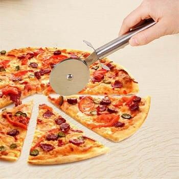 DoreenBeads Food Grade Stainless Steel Pizza Cutter Wheel Roller Knife Kitchen Tools Baking Supply About 21.6*7.5cm, 1 PC нож для пиццы