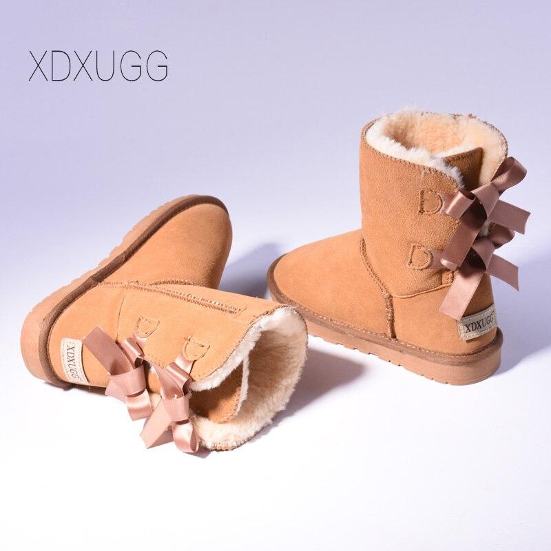High Quality SALE Women Australia Snow Boots Warm Fur Baileys Bow boots women winter boots snow