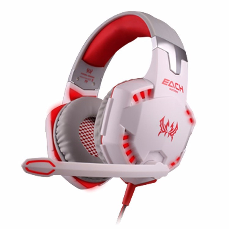 EACH G2000 Over-ear Gaming Headphone Headset Earphone With Mic Stereo Surrounded Bass LED Light For PC Game (26)