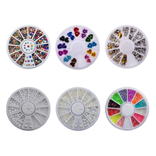 1 Box Mix Size 3D Nail Art Rhinestones Glitters Acrylic Stones Rhinestones for nails Manicure Nail Art Decoration In Wheel 3d nail art fimo soft polymer clay fruit slices cartoon for nail manicure sticker cell phones diy designs wheel decoration czp35