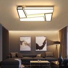 Творческий простота современный Потолочные светильники Черный и белый цвета гладить Светодиодная лампа потолка для гостиной спальня lamparas де TECHO
