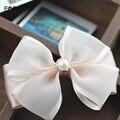 Forwell2Pcs Bow Hairpin Tiara Bride Pink Silk Yarn Pearl Bow Hair Clip Wedding Hair Accessories for Women Sweet channel Headwear