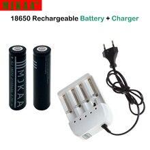 купить 2pcs 18650 Battery 3.7V 3100mAh Rechargeable li-ion Battery + 1pcs 4 Ports Charger for Batery 18650 онлайн