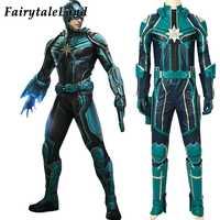 Captain Marvel Yon-Rogg Cosplay Kostüm Männer Halloween Kostüme Superhero Captain Marvel Outfit heroes Uniform Phantasie Overall