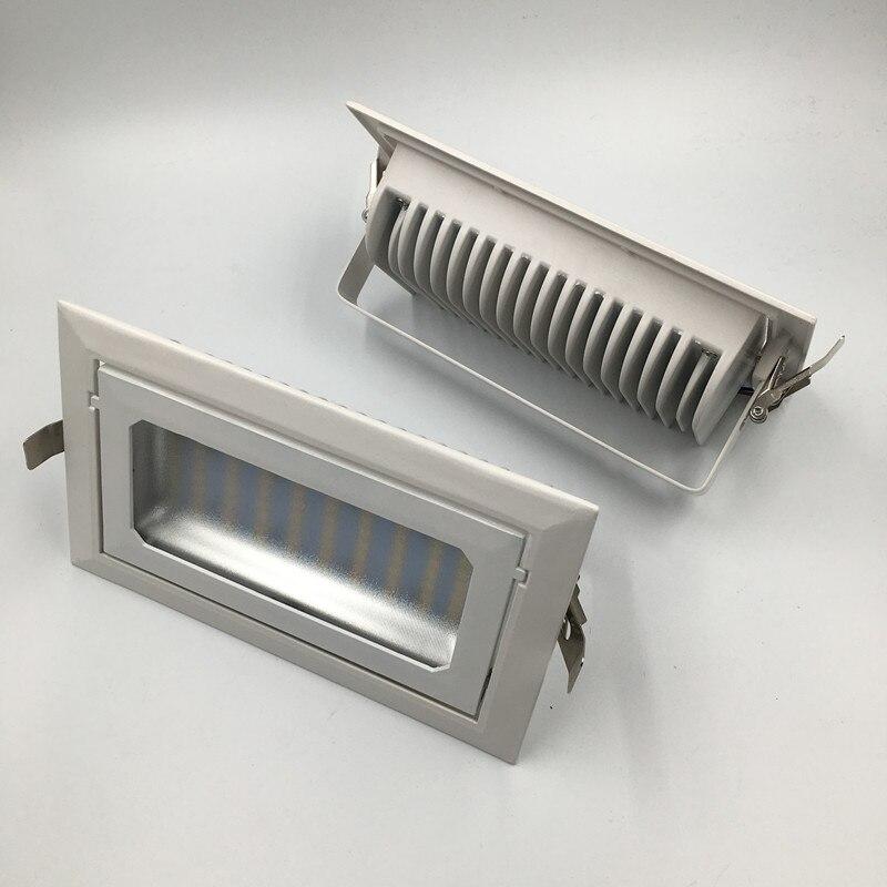 DHL 32 шт. 40 Вт светодиодные светильники, прямоугольник, AC85 ~ 265, al + ПММА, белый Краски SMD5730, светодиодный встраиваемый светильник