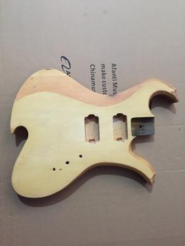 Afanti Music gitara elektryczna DIY korpus gitary elektrycznej (ADK-489) tanie i dobre opinie Beginner Unisex Do profesjonalnych wykonań Nauka w domu LIPA Drewno z Brazylii None Electric guitar Electric guitar body