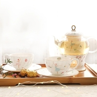 Té perfumado fruta tetera té de cristal de cerámica flor coffeeware olla calefacción Home regalo envío gratis