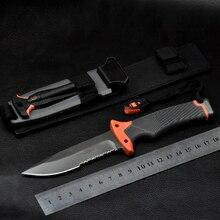 Fixed blade knife Survivors outdoor Pocket Knives Ultimater Survival Knife Camping Knife 59HRC Saw Half