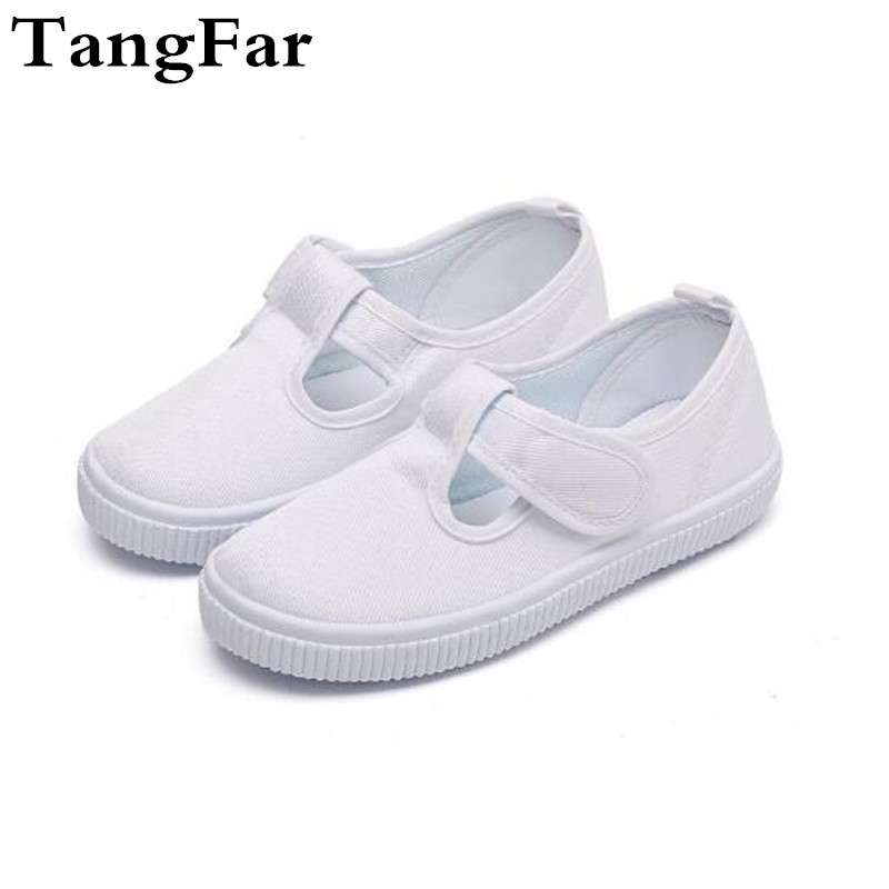girls white canvas shoe