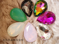 AAA+ Rainbow,rose,Pink opal, white opal Color Pear Drop Crystal Fancy Stone Droplet Glass Stones 10*14mm,13*18mm,18*25mm,20*30mm