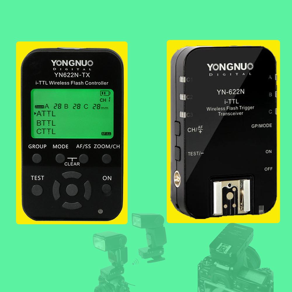 Prix pour YONGNUO YN-622N YN622N YN622N-KIT 622N-TX Sans Fil TTL HSS Déclencheur Flash Pour Nikon Soutient YN586EX YN685N INSEESI IN586EXII