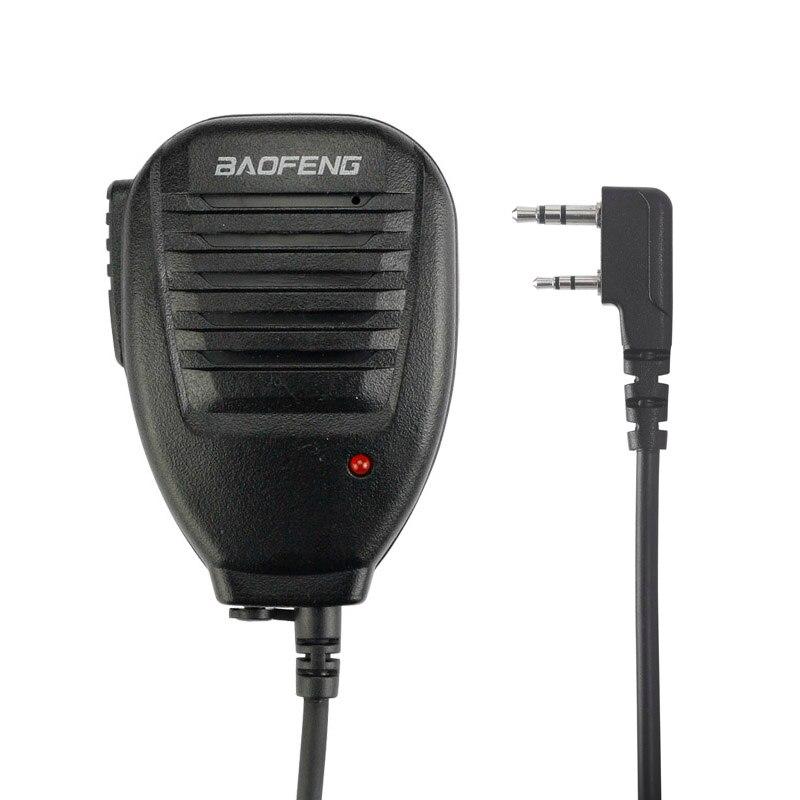 BAOFENG Président Mic Microphone pour Pofung UV-5R UV-5RE UV-82 KD-C1 AP-100 KG-UVD1P BF-888S UV-B5 B6 Two Way Radio Talkie Walkie