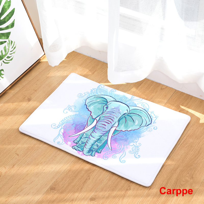 Hot Welcome Mat Cartoon Animal Elephant Doormats Bathroom Kitchen Carpet Home Floor Mats Living Room Anti-Slip Rug 40X60 50X80cm
