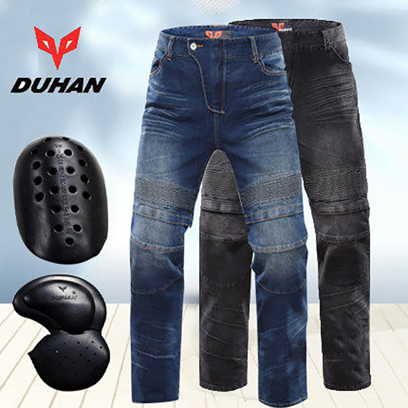 BRAND DUHAN DK018 MOTOR Motorcycle Knee guards Jeans Racing Winter protection Drop Resistant Denim Pants 2015 new duhan dk 018 moto pants motorcycle jeans off road motorcycle riding pant drop resistance external protective gear