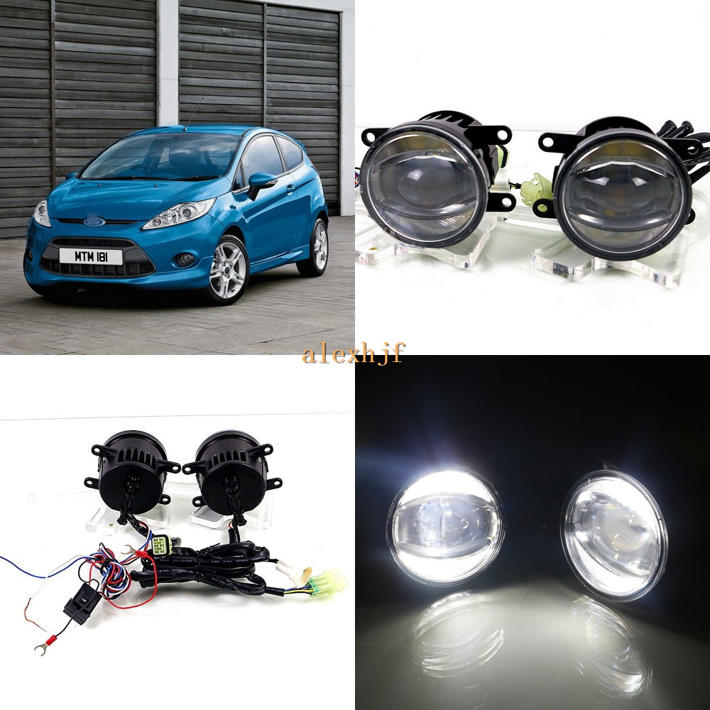 July King 1600LM 24W 6000K LED Light Guide Q5 Lens Fog Lamp +1000LM 14W Day Running Lights DRL Case for Ford Fiesta 2006-2014 july king 1600lm 24w 6000k led light guide q5 lens fog lamp 1000lm 14w day running lights drl case for nissan inifiniti series