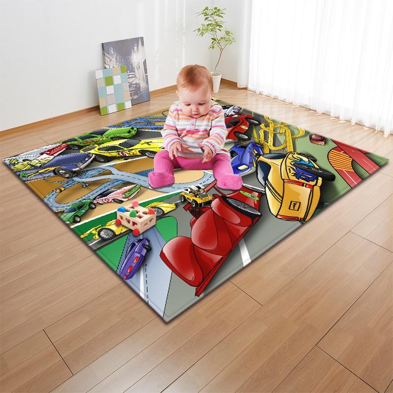 Enfants/bébé ramper tapis de jeu mode 3D Cartoon imprimé enfants jeu tapis doux bébé tapis de jeu tapis de pique-nique en plein air tapis et tapis - 2