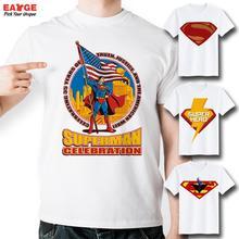 [EATGE] Super Hero Cool T Shirt Funny Printed Top Tee Fashion Superhero Tshirt Men Style T-shirt