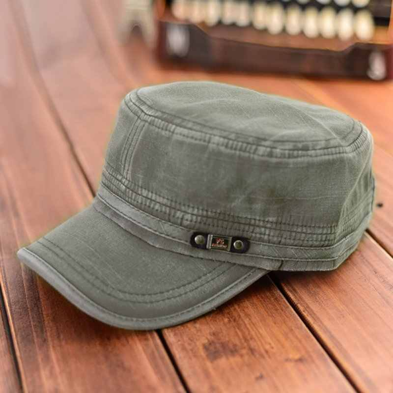 Sunhat Maked Old Flat Cap Adjustable Sunhat Flat Cap Summer Cotton Baseball Cap Men Women Classic Adjustable Army Plain Hat