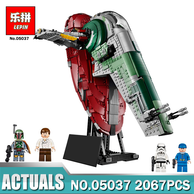 Lepin 05037 Star Series Wars UCS Slave I Slave NO.1 Lepin Star Building Block Bricks Wars Toys Gifts Compatible Legoing 75060 lepin 05060 star series wars ucs naboo star type fighter aircraft model building blocks bricks compatible legoed 10026 toy gifts