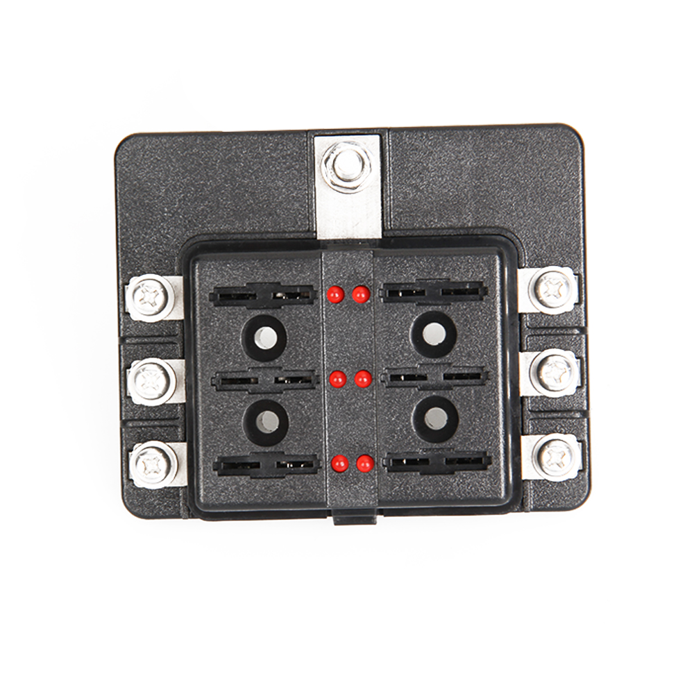 Aliexpress.com : Buy CARCHET 6 Way Blade Fuse Box Blown Cover 100A LED  Illuminated Automotive Blade Fuse Holder Box 6Circuit Fuse Block from  Reliable fuse ...