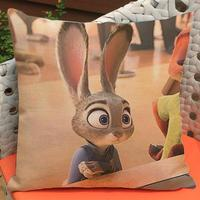 Manufacturers Supply 2016 Latest Film Crazy Animal City Printing Short Soft Plush Throw Pillow Cushion For