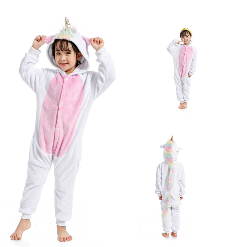 d3dc8a65a4 Colorful Star Unicorn Pajamas Children Kids Animal Flannel Anime Cartoon  Costumes Sleepwear Cosplay Onesie Panda Christmas