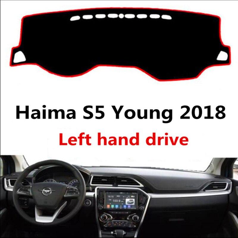 TAIJS Car Dashboard Pad Rug For Haima S5 Young 2018 Left