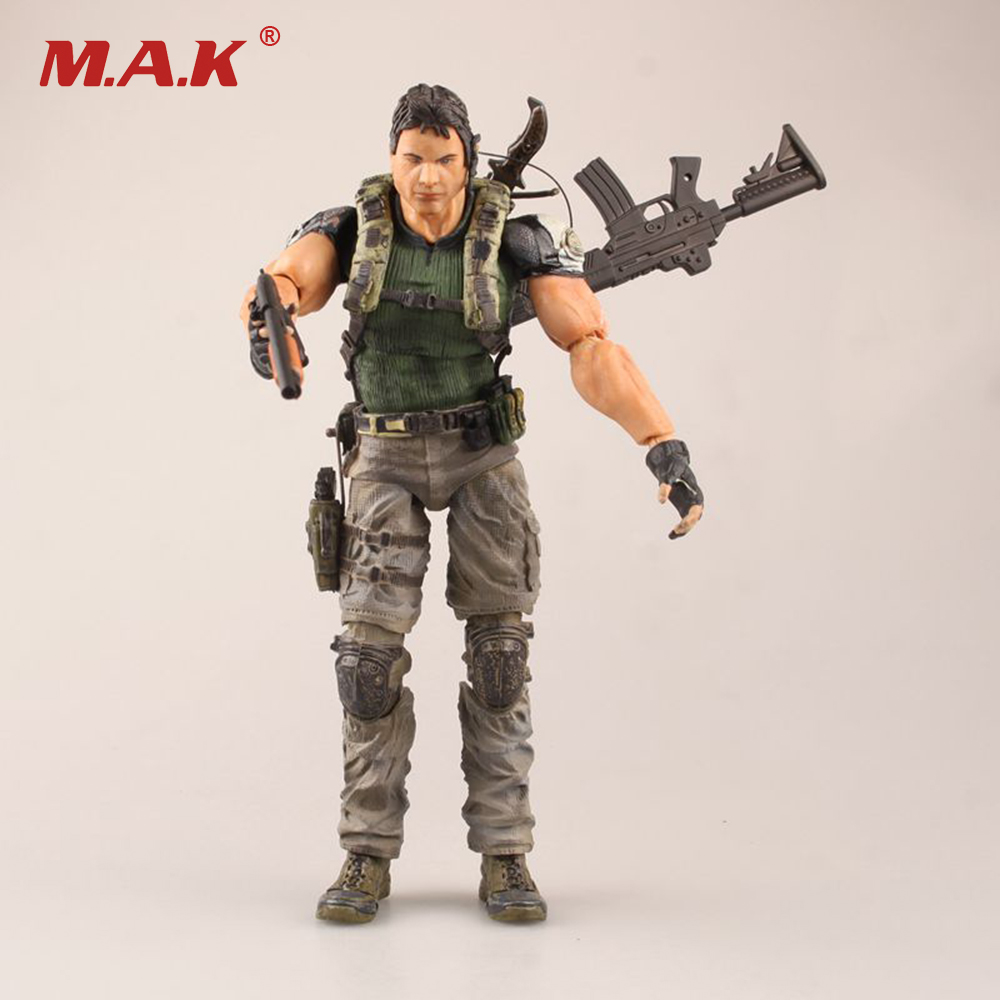 Chris Redfield Resident Evil 5 Action Figure Model Toys Biohazard 5 Cartoon Anime Model Gifts Collections   About 26cm resident evil 5 русский язык sony playstation 4 ролевая боевик