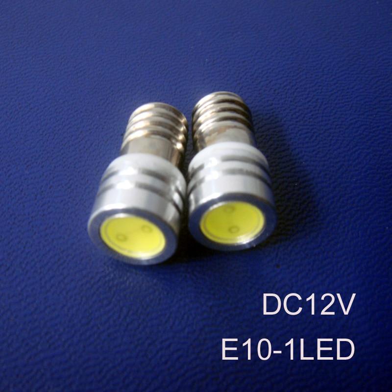 High quality 1W E10 led lamp,1W E10 led car bulb,led 1W E10 Pilot lamps Auto LED E10 12V Indicator Light free shipping 5pcs/lot