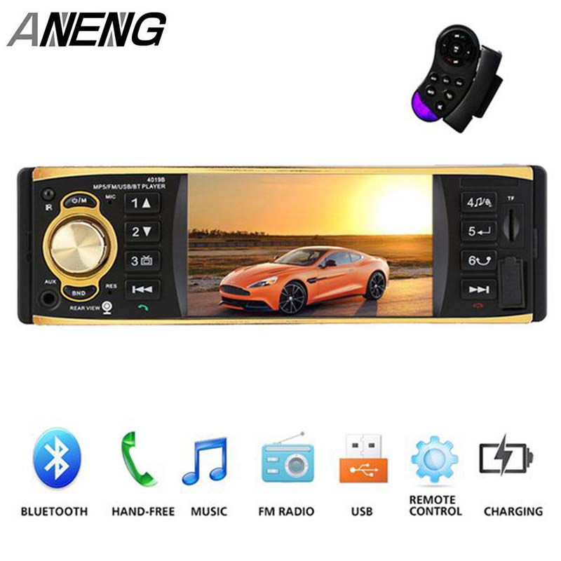 Hot 4019B Car Radio 4.1 inch 1 Din Audio Radios MP5 Player AUX FM R Bluetooth Support Rearview Camera With Remote Contol image