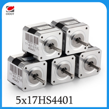 5pcs 4-lead Nema17 Stepper Motor 42BYGH 1.7A NEMA17stepper motor for 3D printer 17HS4401