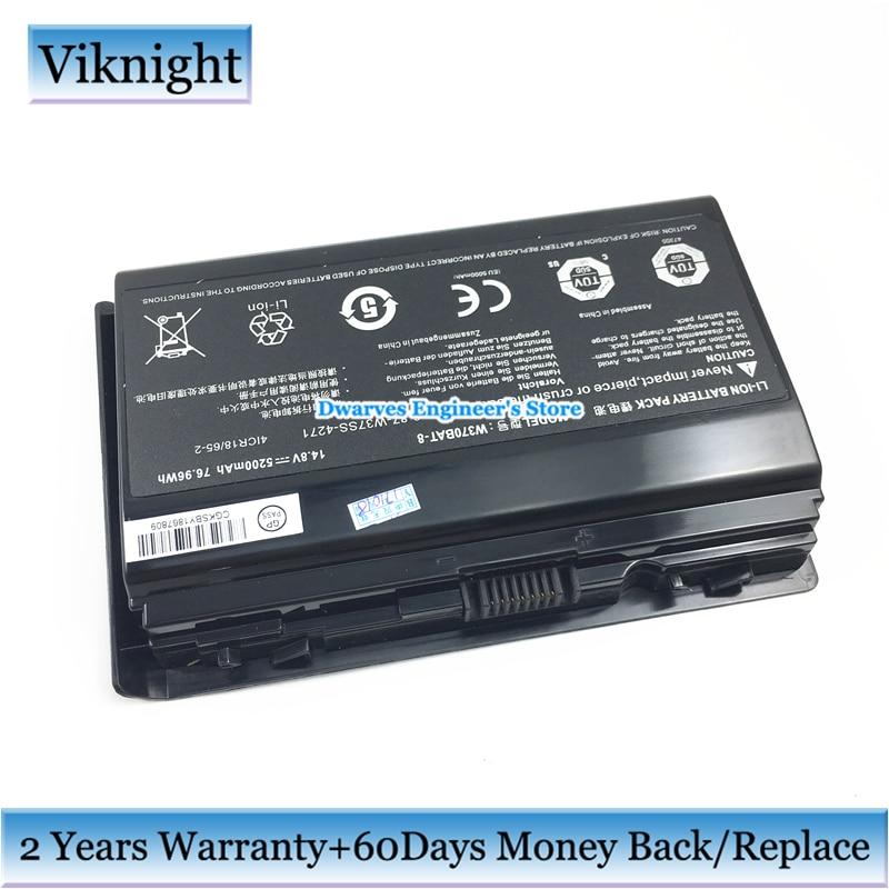 Genuine P370BAT-8 6-87-P37ES-427 Battery For Clevo P370EM P370SM P370SM3 Series 15.12V 5900mAh 89.21Wh origianl clevo 6 87 n350s 4d7 6 87 n350s 4d8 n350bat 6 n350bat 9 laptop battery