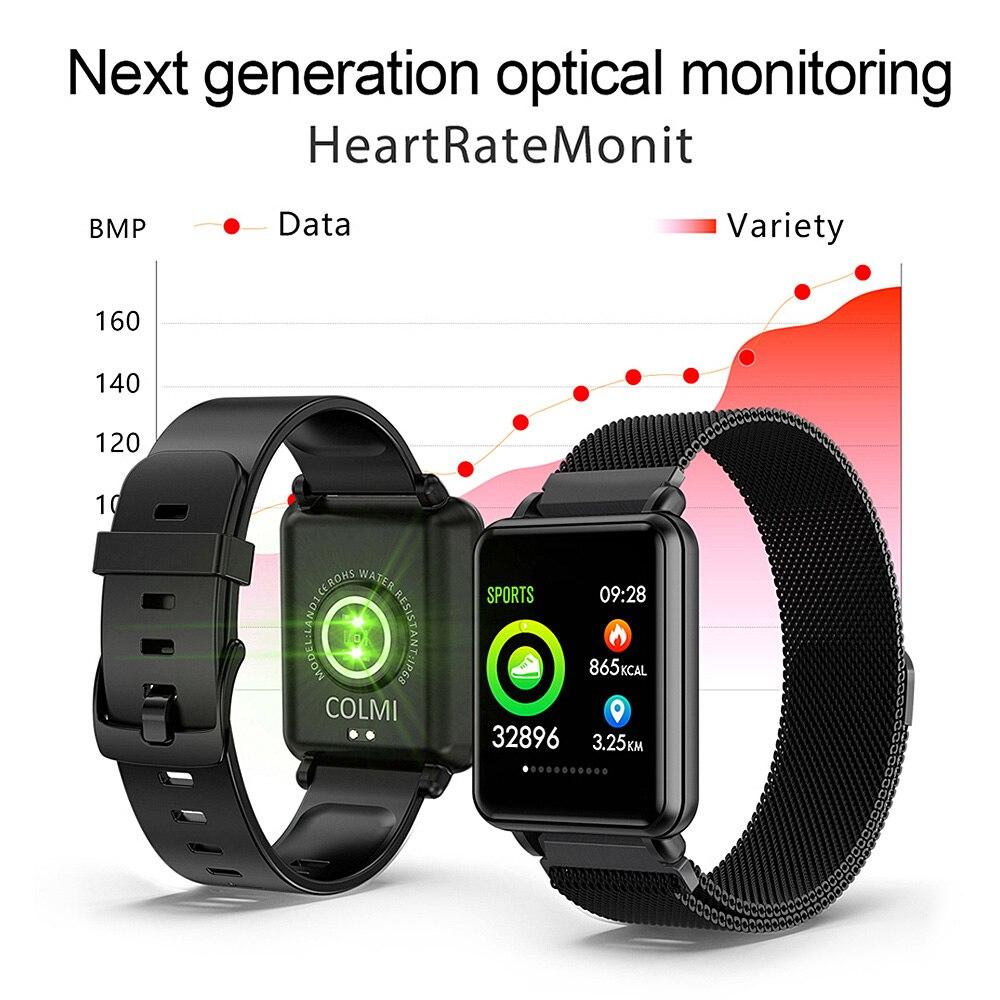 COLMI Land 1 montre intelligente à écran tactile complet IP68 étanche Bluetooth Sport fitness tracker hommes Smartwatch pour téléphone Android IOS - 5