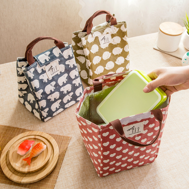 2016 Portable Thermal Bag Women / Men Lunch Bag Cooler Lunch Box Lady Handbag Children / Kids Lunch Bags / Insulation Package waterproof cartoon cute thermal lunch bags wome lnsulated cooler carry storage picnic bag pouch for student kids