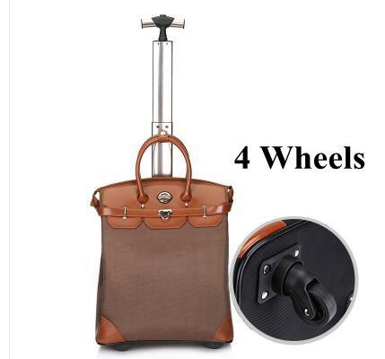20 inch  Women Travel Cabin Luggage Bag Trolley  bag Trolley Suitcase rolling luggage Bag Baggage suitcase on wheels Travel bags