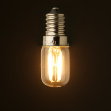 Retro LED หลอดไฟ 1 W 2 W, 2200 K, E12 E14 ฐาน edison Ampoule T20 แก้วใส, 110 V 220VAC, หรี่แสงได้
