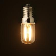Retro LED Filament Beleuchtung Birne, 1 W 2 W, 2200 K, E12 E14 Basis, edison Ampulle T20 Klar Glas, 110 V 220VAC, Dimmbar