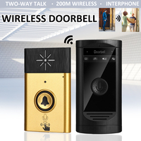 2 in1 Smart WiFi Security DoorBell with Voice Intercom Doorbell LED Indicator Two way Interphone 200m Distance LED Indicator
