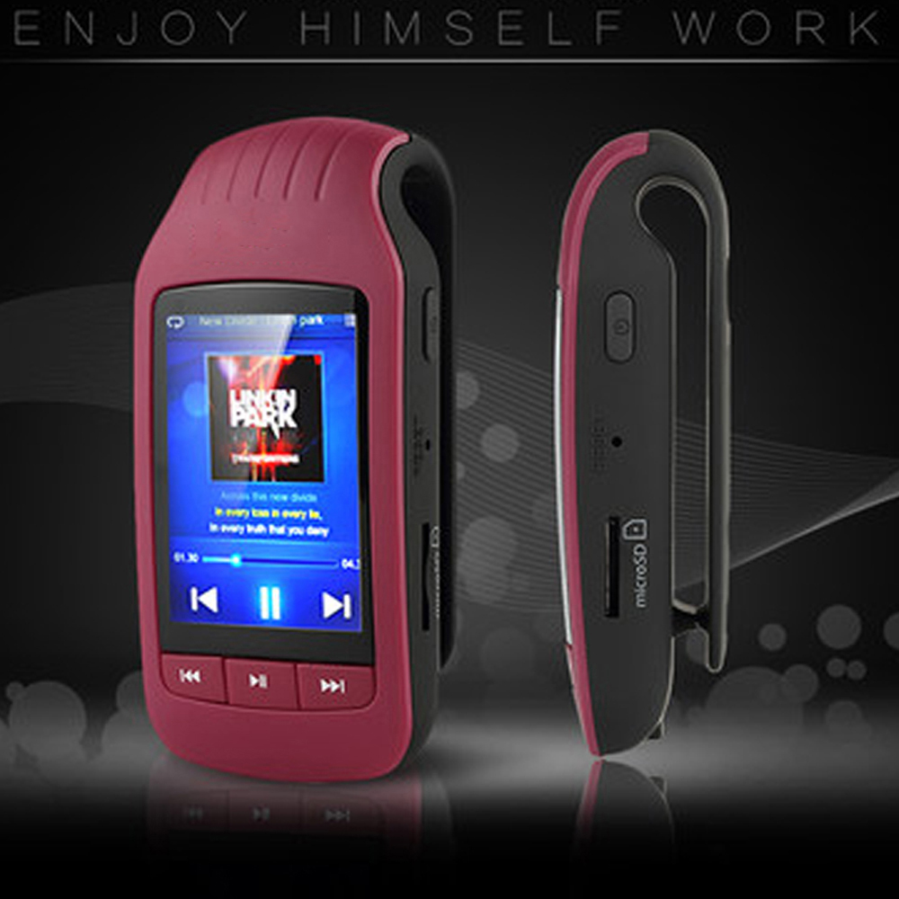 Nouveau lecteur Mp4 Mini Clip Portable Mp4 Bluetooth 8 GB sport Mp4 lecteur FM Radio lecteur vidéo Ebook Mp4 musique Bluetooth lecteur
