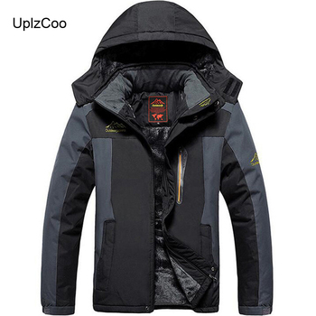 UplzCoo Men Jacket Autumn And Winter New Warm Padded Casual Jacket Outdoor Sports Jacket Mountaineering Suit Large Size9XL FM065