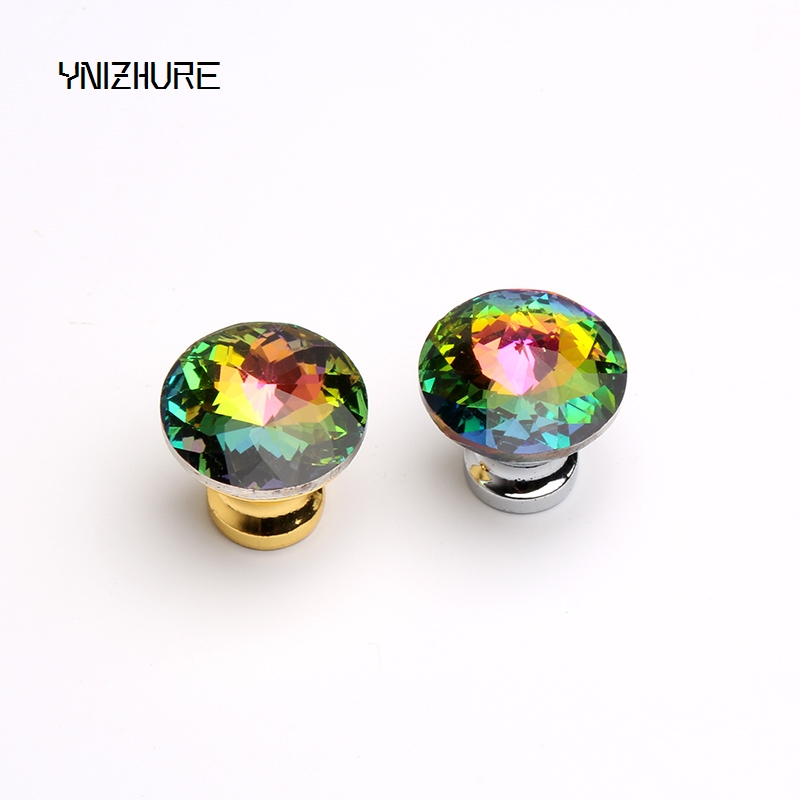 2018 Top Quality 30mm 1pcs Door Knobs Crystal Diamond Glass Shape Colorful Drawer Cupboard Wardrobe Cabinet Furniture Handle стоимость