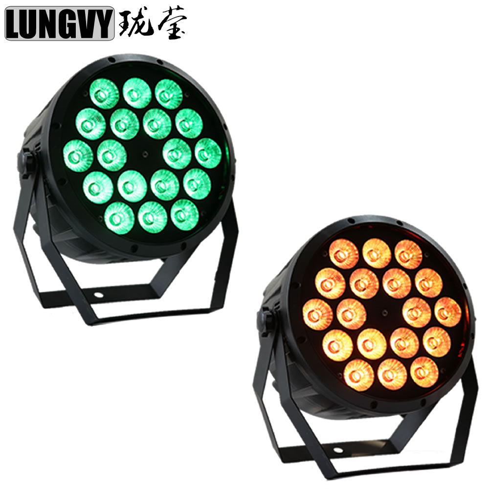 Free Shipping 2pcs/Lot 18X10W 4in1 RGBW LED Flat Par Can Plastic Flat Led Par Stage Light DMX Disco Party Laser free shipping 2 lot 18x10w led par64 led par 64