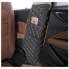 Lsrtw2017 Fiber Leather Car Interior Door Middle Pillar B Anti-kick Mat for Buick Regal Opel Insignia 2018 2019 2020