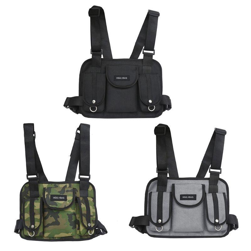 1Pc Fashion Men Tactical Chest Rig Waist Bag Hip Hop Street Wear Shoulder Bag School Backpack 20191Pc Fashion Men Tactical Chest Rig Waist Bag Hip Hop Street Wear Shoulder Bag School Backpack 2019