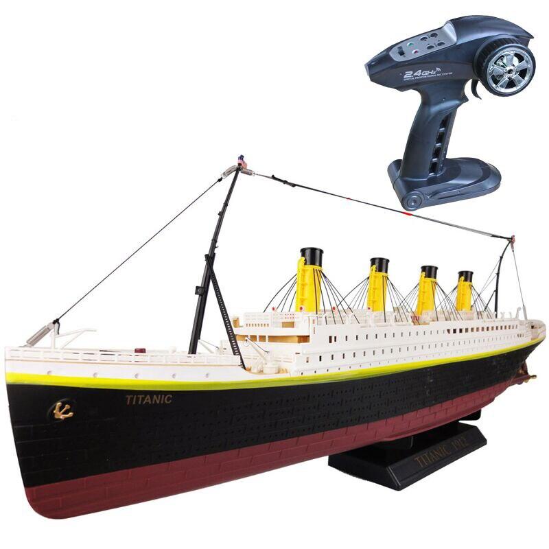 RC Boat 1:325 Titanic Sea Grand Cruise Ship 3D Titanic Century Classic Love Story RC Boat High Simulation Ship Model Toys slip-on shoe